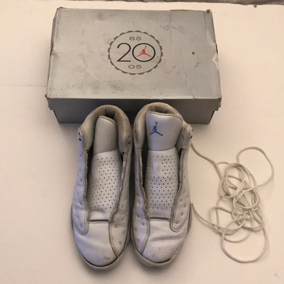 promo code 6e5e1 95c92 Jordan Other - Air Jordan Retro 13 White Neutral Grey Uni Blue 11